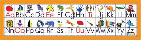 student alphabet strip